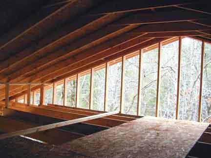 Doug Robinson House Framing Attic