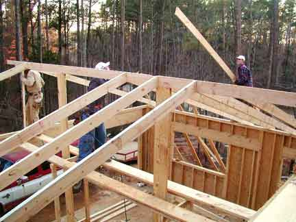 Doug Robinson House Framing Garage Roof