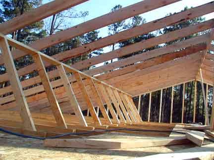 Doug Robinson House Framing Roof
